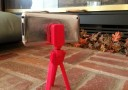 Tripod3D (Red) with BuddyGripper3D (Red)