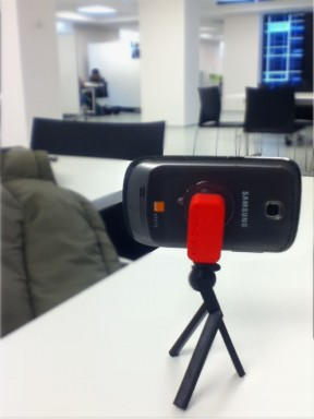 BuddyGripper3D (Red) with Tripod3D (Black)
